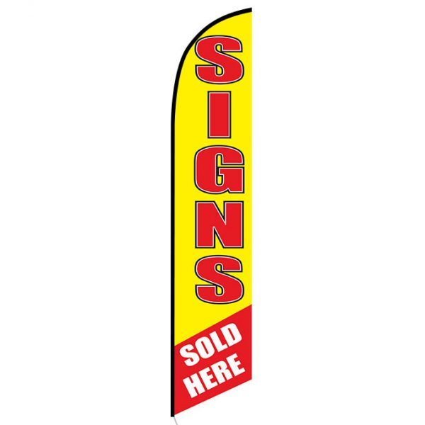 Signs Sold Here feather flag