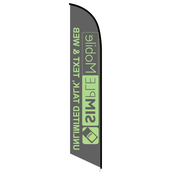 Simplemobile Wireless Unlimited Talk Text Web Feather Flag