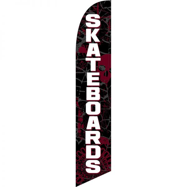 Skateboards Feather Flag