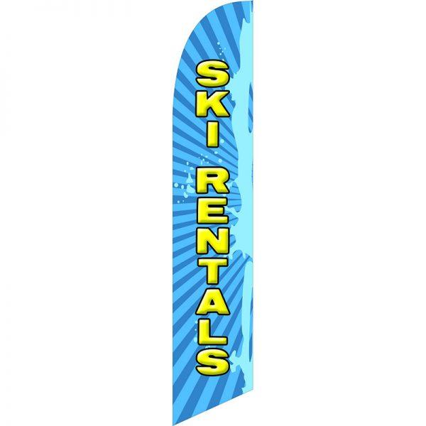Ski Rentals Feather Flag