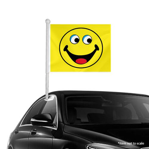 yellow Smiley Window Clip-on Flags