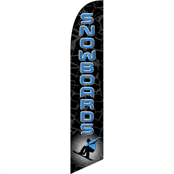 Snowboards Feather Flag
