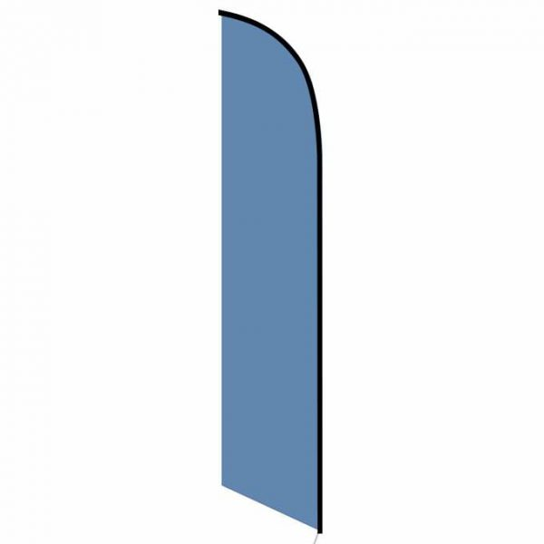 Solid Dark Blue Feather Banner Flag