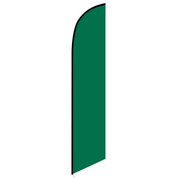 Solid Dark Green Color Feather Banner Flag