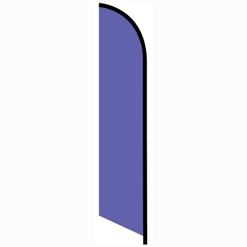 Solid Violet Colored Feather Banner Flag