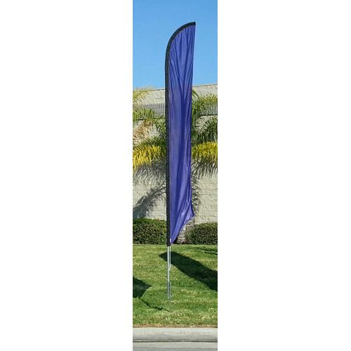 Solid Dark Blue Feather Banner Flag