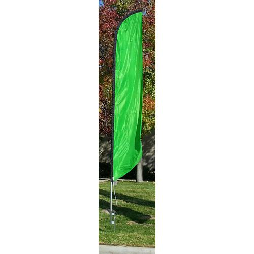 Solid Light Green Colored Feather Banner Flag