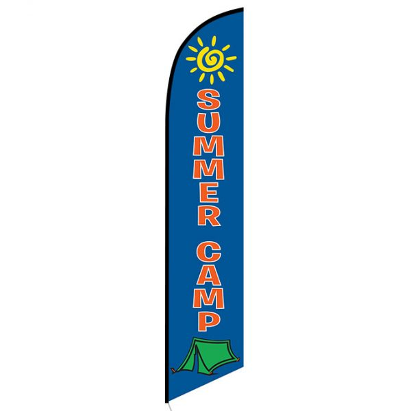 Summer Camp feather flag