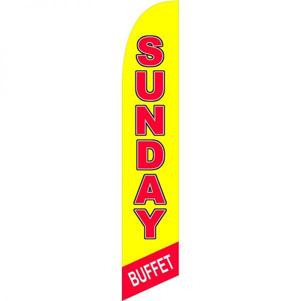 Sunday Buffet Feather Flag
