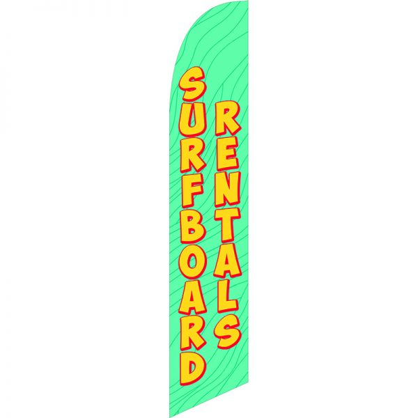 Surfboard Rentals 3 Feather Flag