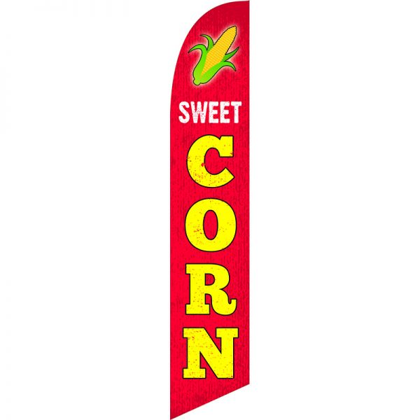 Sweet Corn Feather Flag