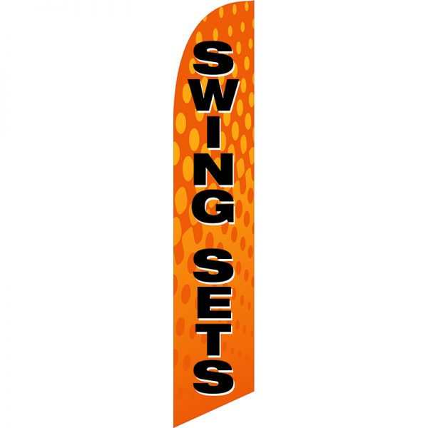 Swing Sets Feather Flag