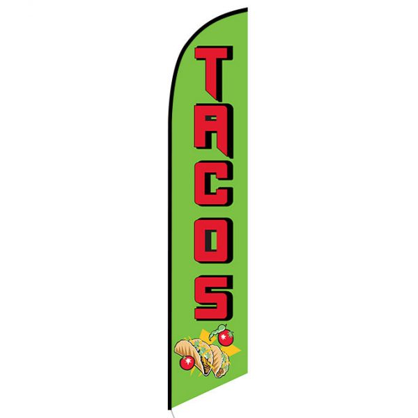 Tacos Feather Flag