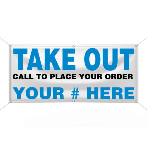 Take Out (Blue) Banner