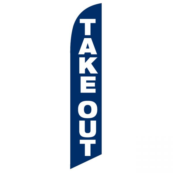 Take Out Feather Flag - FFN-99903
