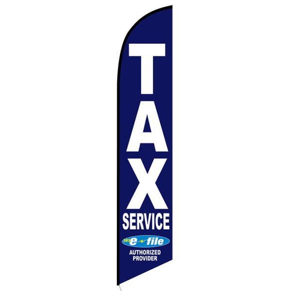 Tax Service Advertising Flag Blue E-file