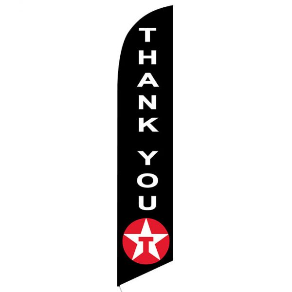 Texaco Thank You feather flag