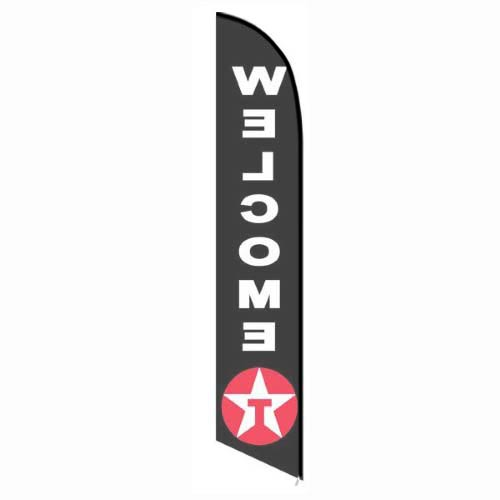 Texaco Welcome feather flag