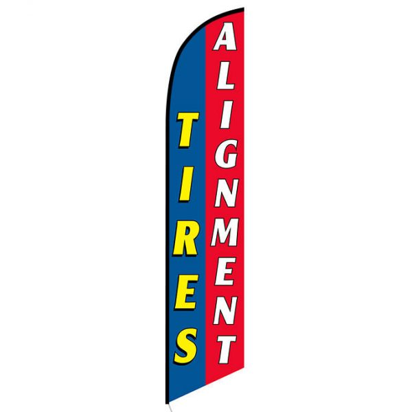 Tires Alignment blue red Banner Flag FFN-5320 front