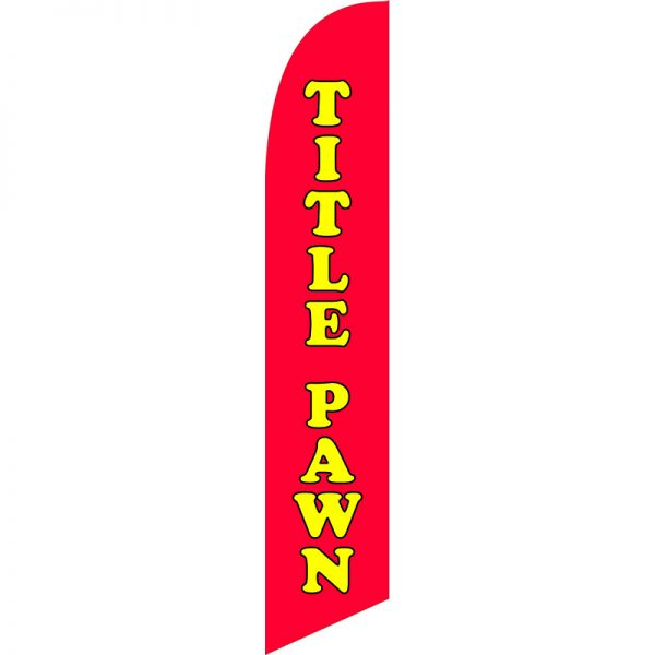 Title Pawn Feather Flag