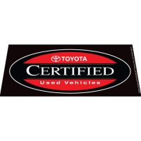 Toyota CPO Black windshield banner