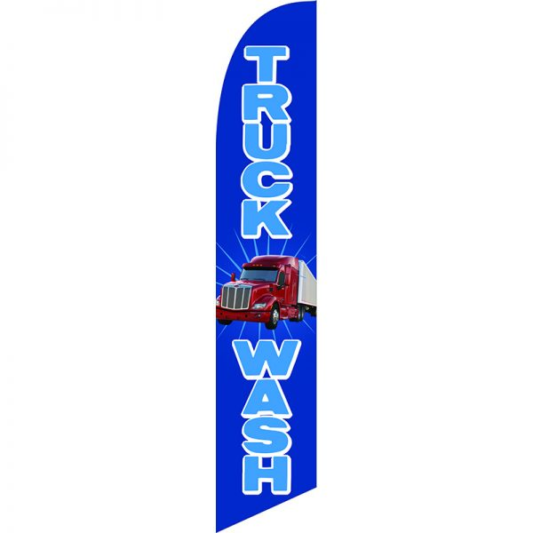 Truck Wash Feather Flag