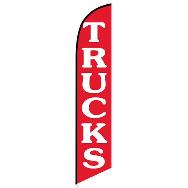 Trucks red feather flag