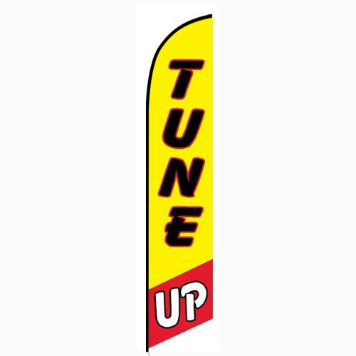 Tune Up Yellow and Red Feather Flag FFN-5114