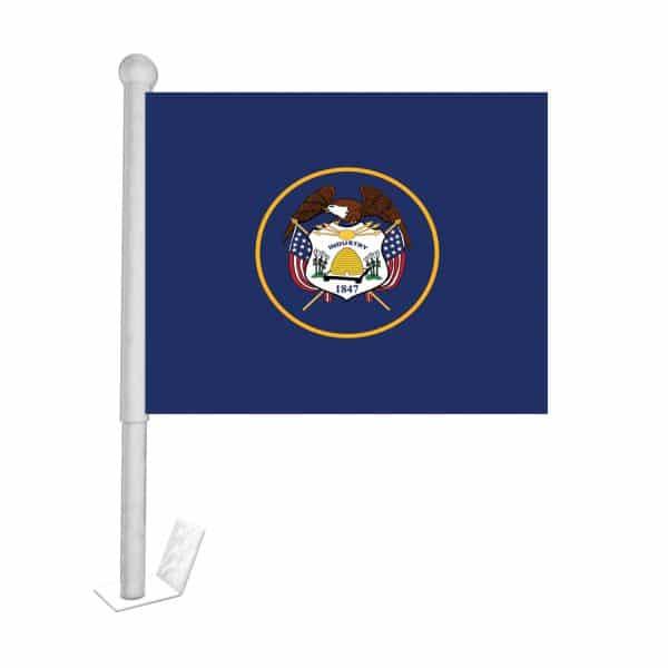 utah state car flag