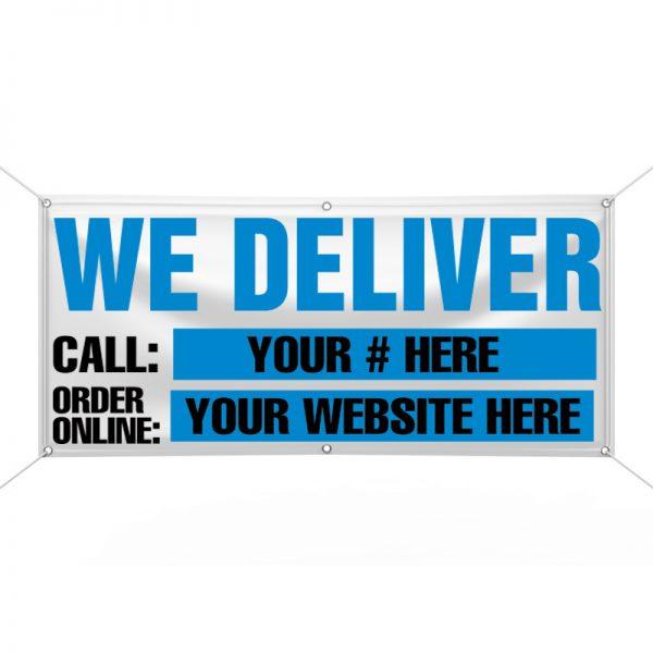 We Deliver (Blue) Banner