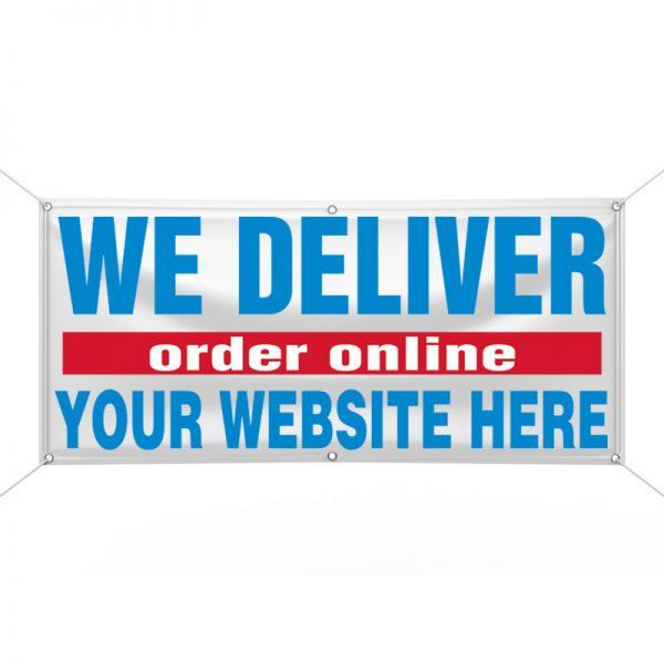 We Deliver Order Online Banner