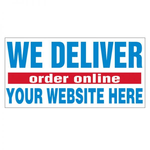 We Deliver Order Online Vinyl