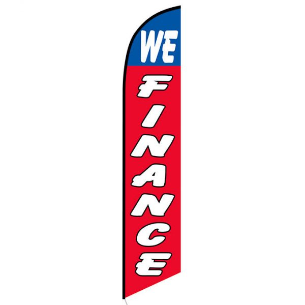 We Finance feather flag