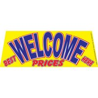 Welcome Best Prices windshield banner