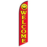 Welcome smiley banner flag