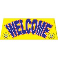 Welcome Smiley windshield banner