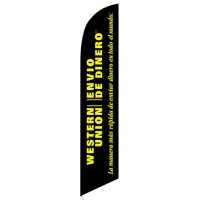 Western Union Envio de Dinero feather flag
