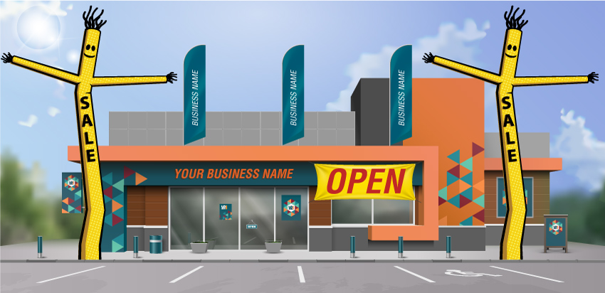 advertising-products-for-business---feather-flags,-banners-and-tube-man