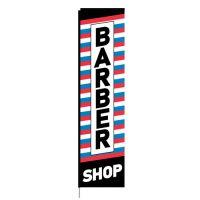 Barber Shop Rectangle Flag