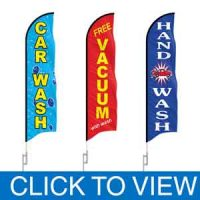 Car Wash Feather Flags in Stock