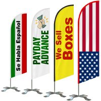 Double-sided 6ft Custom Feather Flag Kit, Advertising Flags for Businesses and Homes