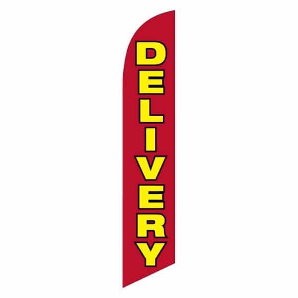 delivery-feather-flag-red-with yellow text