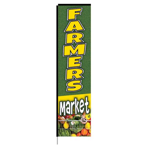 farmer's market rectangle flag-10186