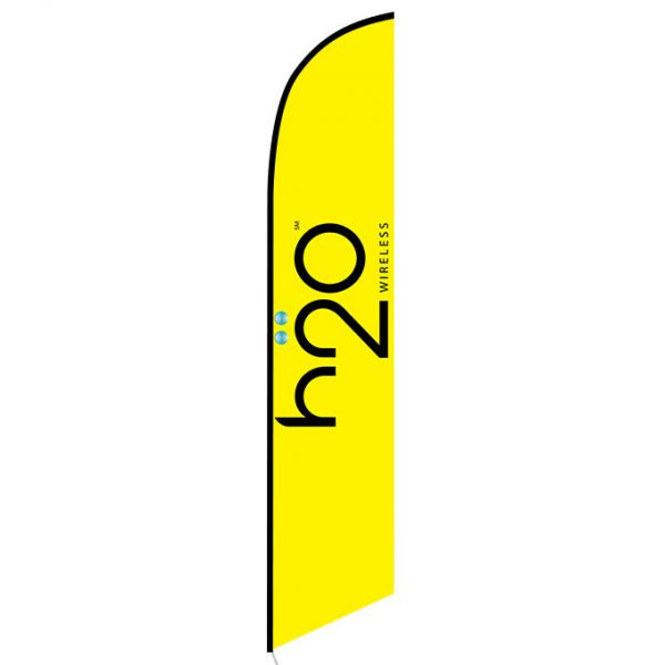 h2o Wireless Feather Flag