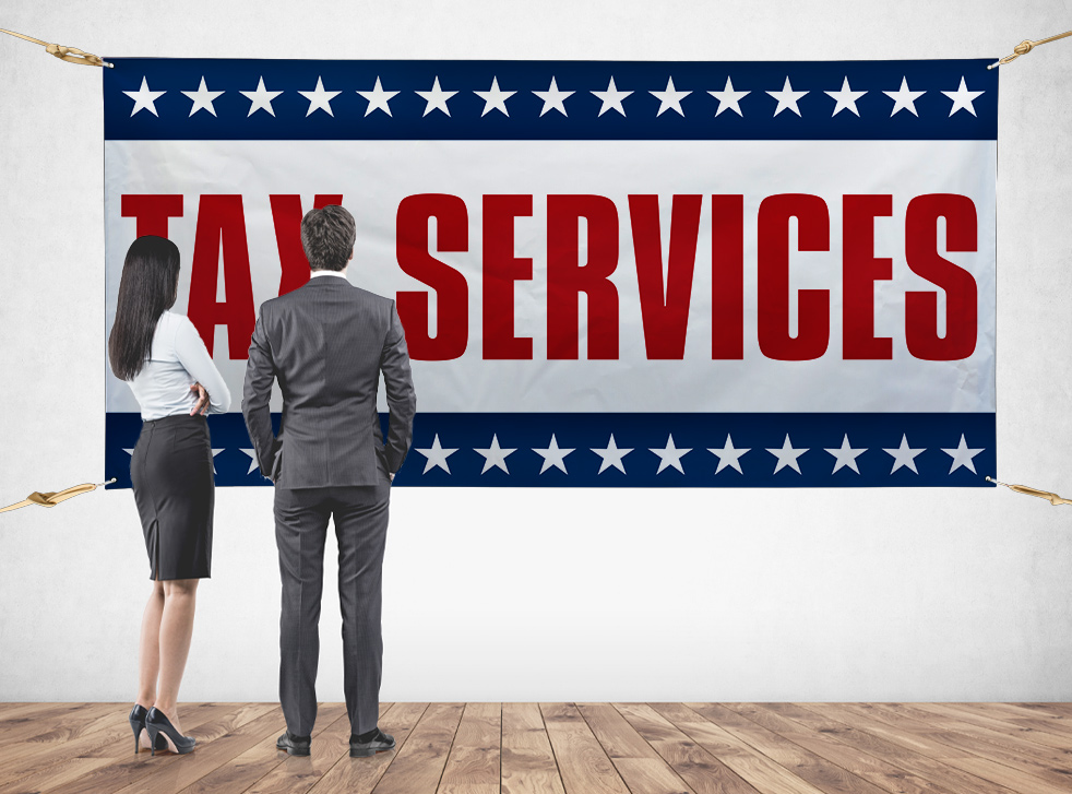 tax services advertising banners