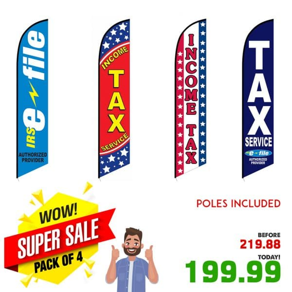 income-tax-feather-banner-flags-pack-of-4