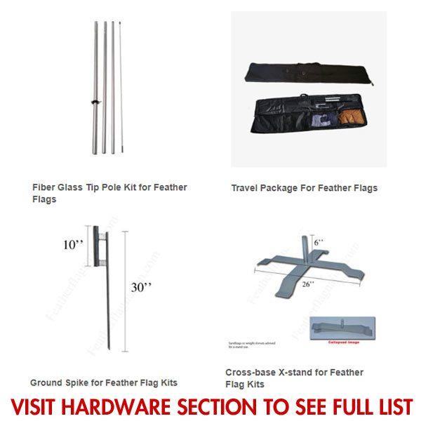 Hardwood sale feather flag