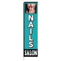 Nails Salon Rectangle Flag