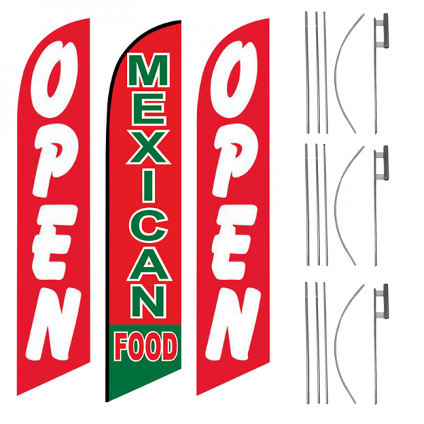 open-mexican-food-open-feather-flag-package-ffn-5541-ffn-5004-ffn-5541