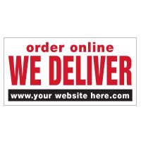 Order Online We Deliver Vinyl Banner